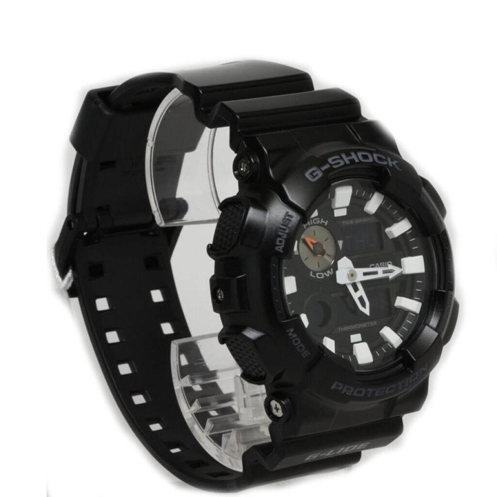 การใช้งาน  เพชรบุรี 【 STOCK】Original _ Casio_G-Shock GA110 Duo W/เวลา 200M กันน้ำกันกระแทกและกันน้ำโลกนาฬิกากีฬาไฟแอลอีดีอัตโนมัติ Wist นาฬิกากีฬาสำหรับ MenBlack GAX-100B-1A