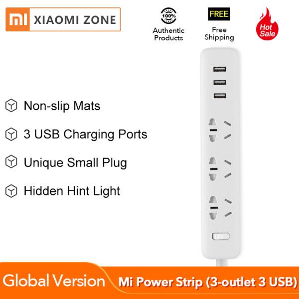 Bảng giá [Phiên Bản Toàn Cầu] Bản Gốc Xiaomi Mi Power Strip USB Sạc Cổng Hỗ Trợ 2A Sạc Nhanh Với 3-Outlet, 3 USB EU An Toàn Bảo Vệ Quá Tải Power Extension 3 Ổ Cắm Quốc Tế