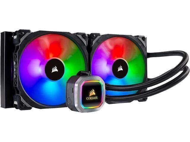 CORSAIR Hydro Series, H115i RGB PLATINUM, 280mm, 2 x ML PRO 140mm RGB PWM  Fans, Advanced RGB Lighting & Fan Control w/ Software, Liquid CPU Cooler