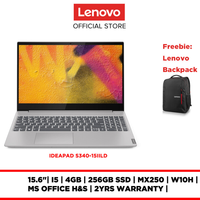 LENOVO LAPTOP NOTEBOOK IDEAPAD S340-15IILD 81WL003FMJ 15.6  I5 4GB 256GB SSD MX250 W10H MS OFFICE H&S 2YR WARRANTY BACKPACK Malaysia