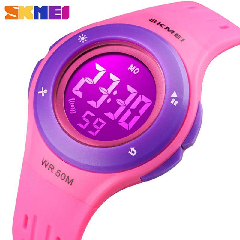 SKMEI Brand Fashion Childrens Watches Chronograph 50 Waterproof  LED Digital Display Boy And Girl Universal Calendar Watch Malaysia