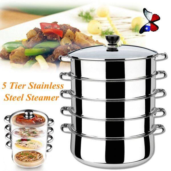 4tier steamer cooker Steam pot set Stainless Steel Kitchen cookware 32cm Hot Pot,4 Tier Stainless Steel Steam Pot
