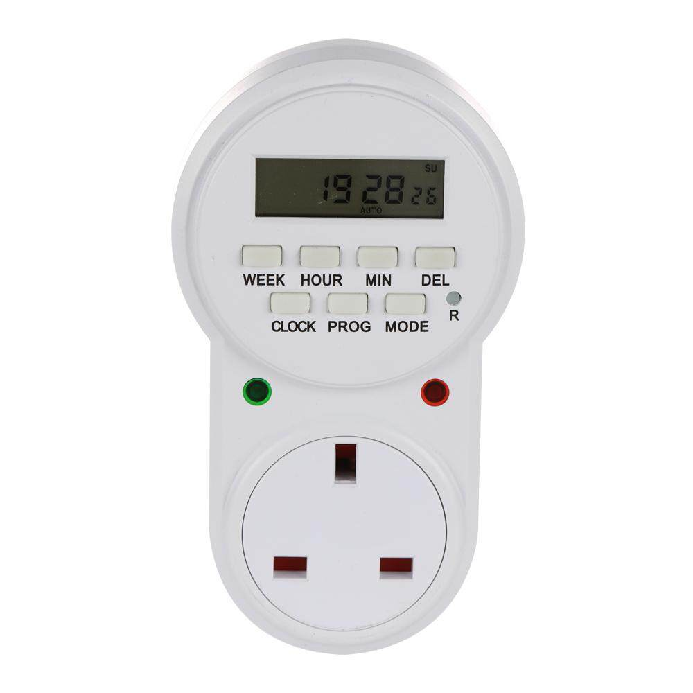 UK Plug Smart Power Socket Digital Timer Switch Energy Saving Adjustable Programmable Setting of Clock On Off Time