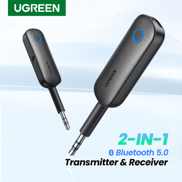 UGREEN 2-in-1 Bluetooth Transmitter Receiver Bluetooth 5.0 Adapter Wireless 3.5mm Adapter Low Latency for Home Sound System Singapore