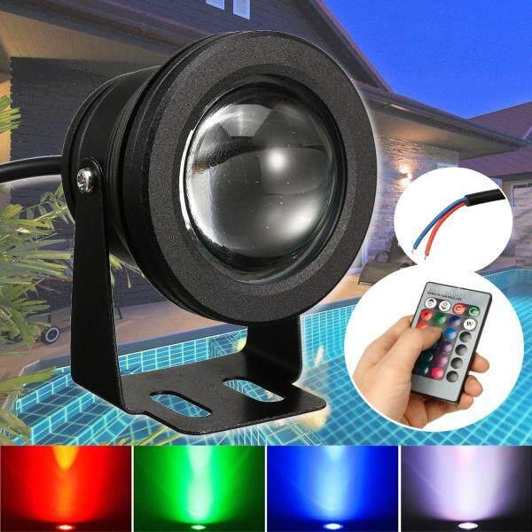 Đèn LED RGB 10W, Đèn Chiếu Dưới Nước, Bể Bơi, Chống Nước, Điều Khiển Từ Xa