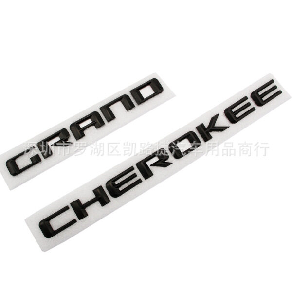 Cửa Xe Biểu Tượng Miếng Dán Logo Cho Xe Jeep GRAND CHEROKEE Tái Trang Bị Huy Hiệu Nâng Cấp Màu Đen