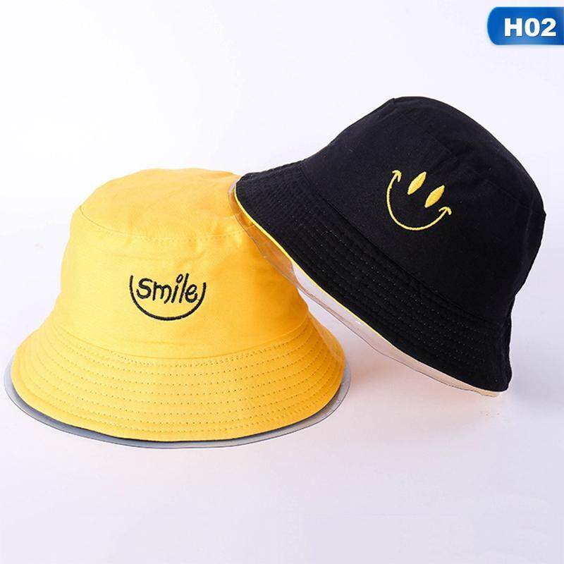 90b5e26c2719c Eounthbard Cotton TWO SIDED letter Bucket Hat Fisherman Hat outdoor travel  hat Sun Cap Hats for
