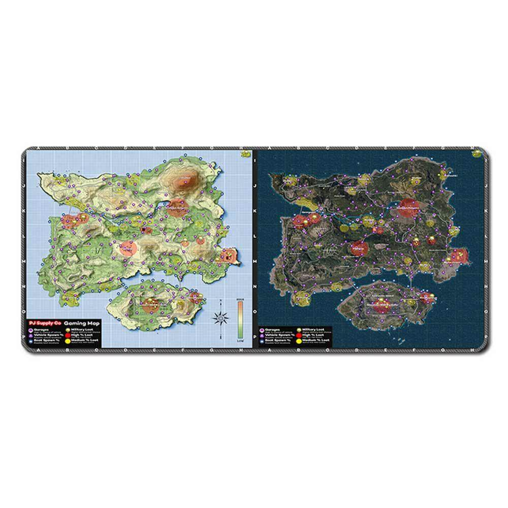 niceEshop PUBG Island Map Extended Gaming Mouse Pad With Stitched Edges Anti-Slip Keyboard And Mouse Mat For PUBG Gamers Fans (40X80CM) Malaysia