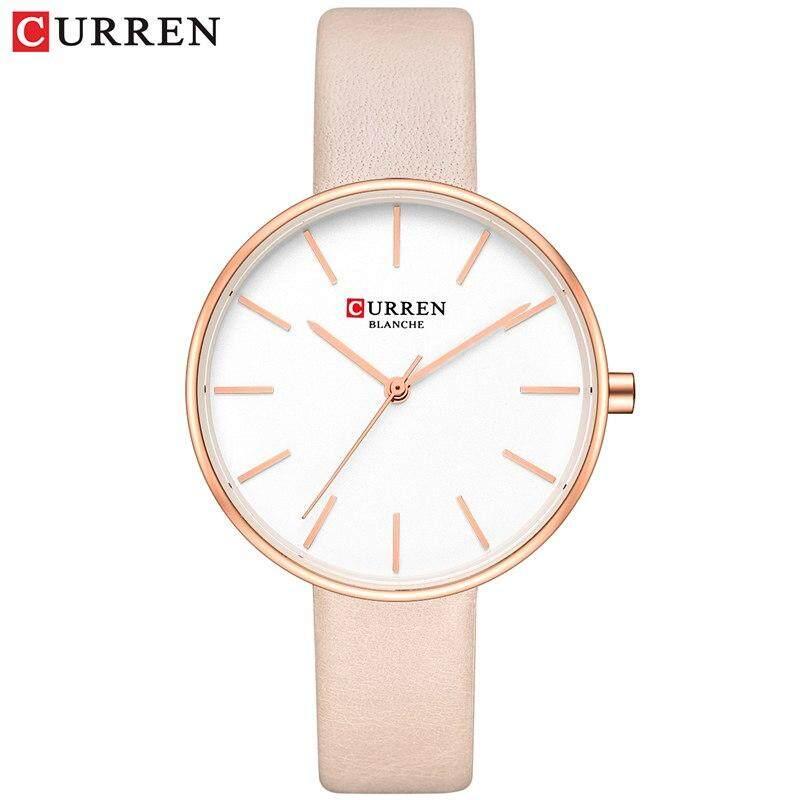 df3bdd9f0 CURREN Fashion Slim Quartz Watches Ladies Leather Strap Wristwatch Womens  Watch Black Clock Female Casual Accessories