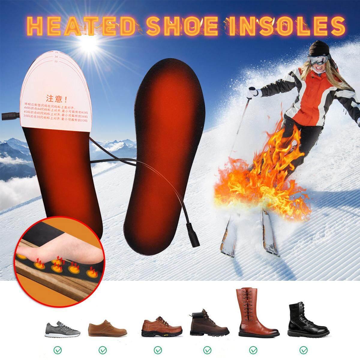 44-40Size Nóng Lót Giày USB Chạy Bằng Điện Phim Nóng Chân Ấm Tất Miếng Lót Chân