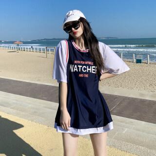 Đồ Bơi Nữ 2021 Bộ Đồ Ba Mảnh Kiểu Dáng Kín Đáo Thể Thao Mới Đồ Bơi Tập Hợp Sinh Viên Thon Gọn Bụng Phong Cách Instagram Hàn Quốc thumbnail