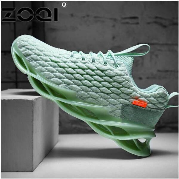 Giày Thể Thao ZOQI Cỡ Lớn 39-46 Cho Nam, Giày Chạy Bộ Thời Trang Kiểu Hàn Quốc Thể Thao Ngoài Trời Màu Trắng