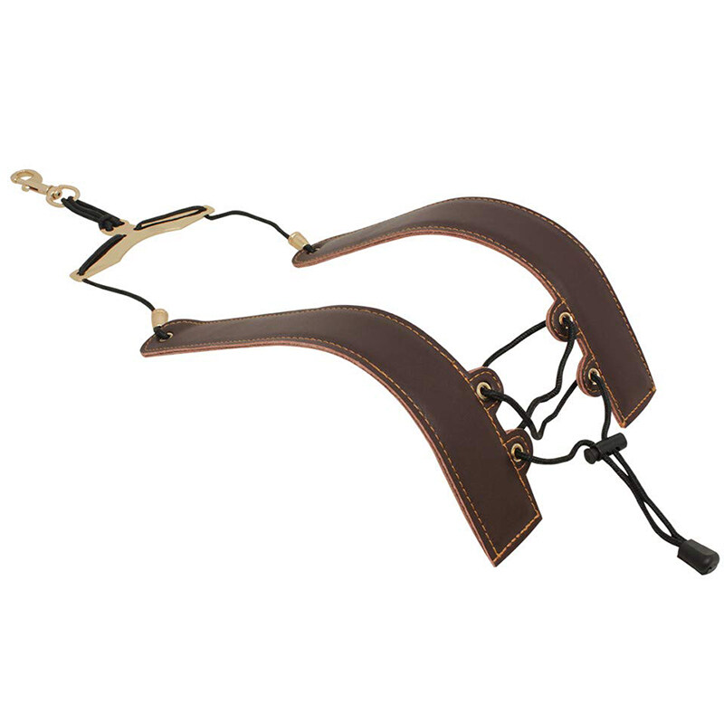 Adjustable Leather Saxophone Shoulder Neck Strap with Buckle for Sax Players Music Lovers Malaysia