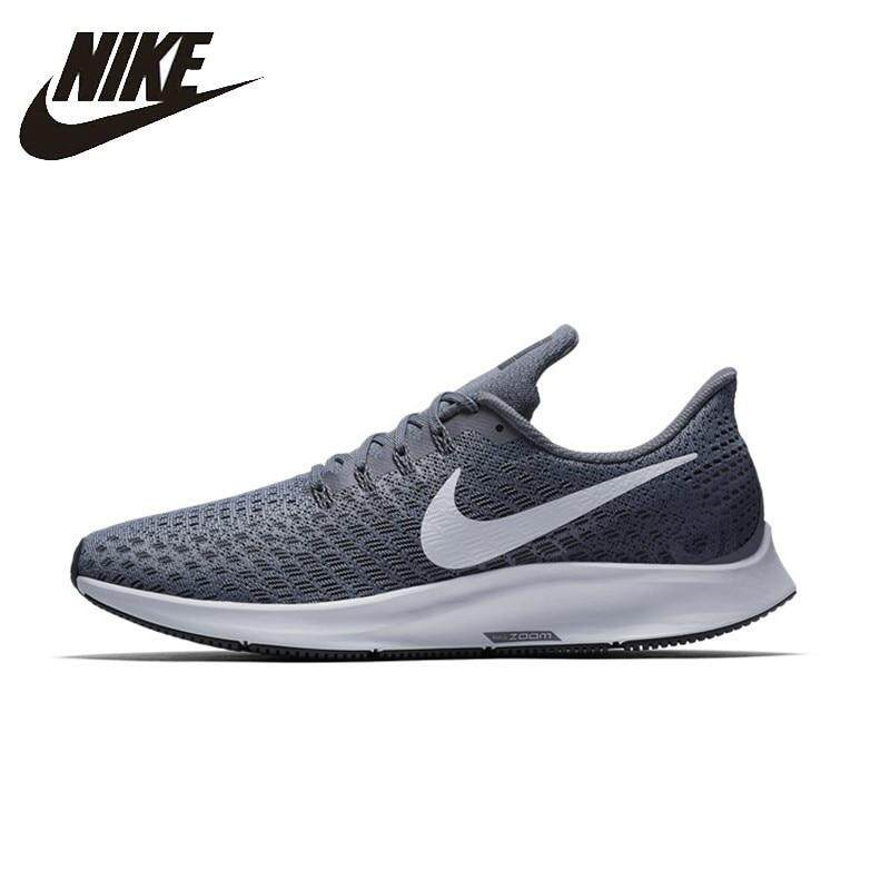 Genuine NIKE_AIR_ZOOM_PEGASUS 35 Mens Running Shoes Mesh Breathable Stability Support Sports Sneakers For Men Shoes gray Diskon sneaker Harga grosir Factory outlet