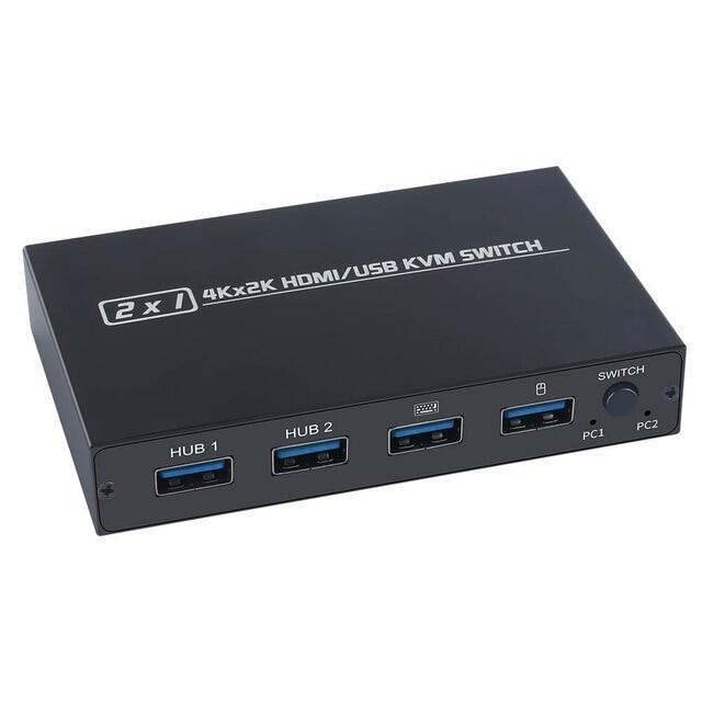 Phích Cắm Máy In Chuột Bàn Phím Chia Sẻ Dành Cho 2 Chiếc Hộp Chuyển Đổi USB HDMI KVM Paly 2020 Out Bộ Chia Công Tắc USB Hiển Thị Video 2020