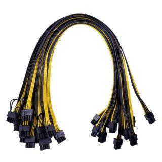 Cho Đồ Họa Pin Power Pci-e 50Cm (6 + 2) Đến 6 Pin Pci-e 12Pc 8 Card Gpu Cáp thumbnail