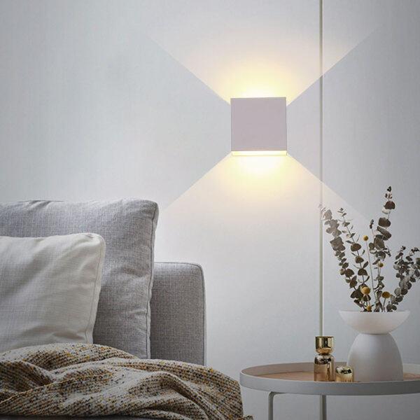 L-sweet Thanh Ray Đèn Tường Nhôm LED 6W Đèn Tường LED Vuông, Đèn Cạnh Giường, Trang Trí Tường Phòng Ngủ