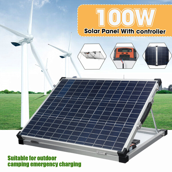 100W Solar Panel With Controller Solar Folding Suitcase -