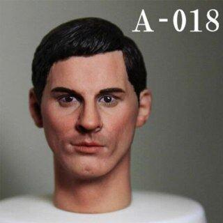 A-18 Mới 1 6 Tỷ Lệ Nam Đầu Khắc Tóc Đen Người Đàn Ông Đầu Điêu Khắc Phù Hợp Cho Cơ Thể Nam 12 Inch thumbnail