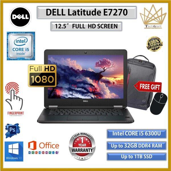 "DELL Latitude E7270 CORE i5 (6th GEN) 12.5""FHD / Upto 16GB RAM / 512GB SSD / 12.5 inch FULL HD SCREEN / REFURBISHED NOTEBOOK / i5 LAPTOP/ BUSINESS KOMPUTER Malaysia"
