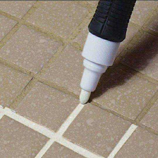 Tile Gap Whitening Pen - TILE MARKER - Grout Marker 7ml - make your floor & wall look clean and beautiful ~