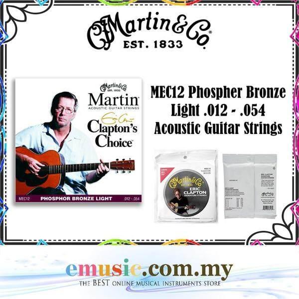 Martin & Co. MEC12 Phospher Bronze Light .012 - .054 Acoustic Guitar Strings Malaysia