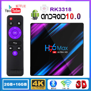 H96 Max TV Box Máy Phát Đa Phương Tiện Thông Minh Android 10.0 Rockchip RK3318 QuadCore 4K 1080P 2.4G & 5G WiFi BT4.0 H.265 60fps Cho Youtube, Hỗ Trợ Trợ Giọng Nói Google thumbnail