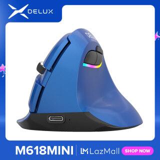 Delux M618Mini Chuột Đứng Thiết Kế Công Thái Học Chuột Chơi Game Không Dây Gamer Bluetooth 2.4GHz Xây Dựng Trong Pin Sạc Chuột Cho Máy Tính PC Máy Tính Xách Tay Game Thủ thumbnail