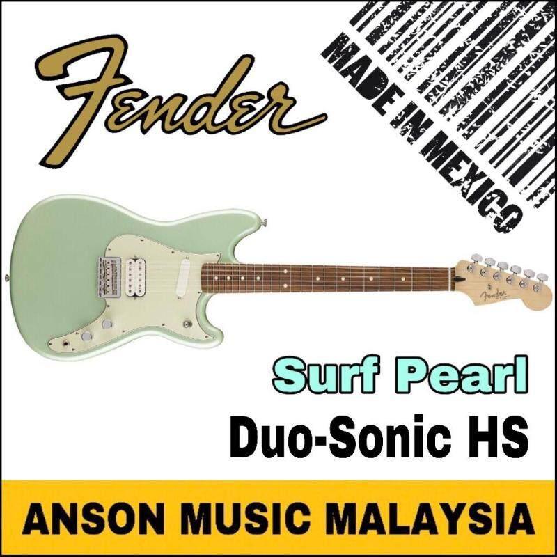 Fender Duo-Sonic HS Electric Guitar, Pau Ferro Fingerboard, Surf Pearl Malaysia