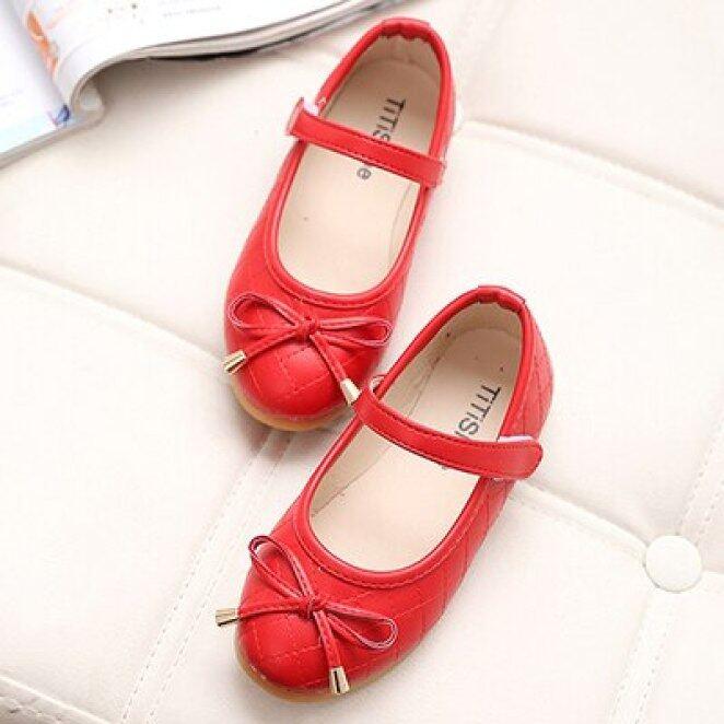 Giày Công Chúa Trẻ Em Mới Mùa Xuân Thu Mùa Hè Bé Gái Căn Hộ Giày Trẻ Em Đen Trắng Đỏ Công Chúa Đôi Giày Sinh Viên giá rẻ
