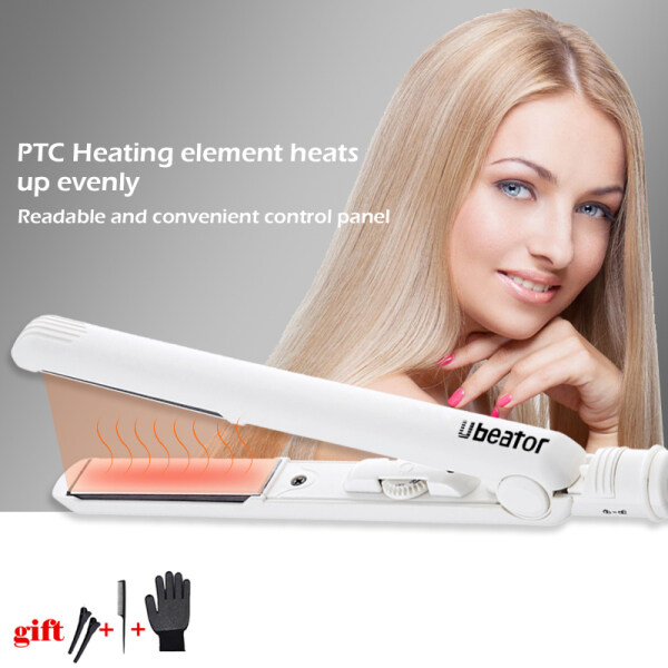 Buy LED Display 2-in-1 ceramic coating Hair straightener comb hair Curler beauty care Iron healthy beauty curling irons flat iron Singapore