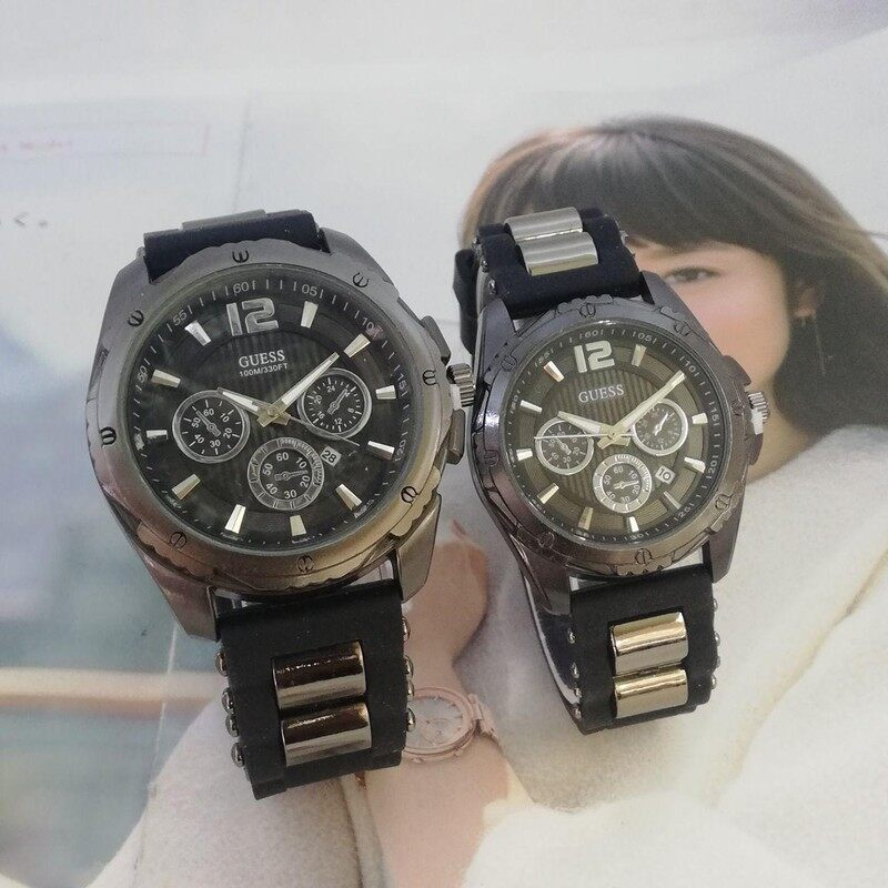 convertibile risorsa rinnovabile soddisfare  SPECIAL PROMOTION GUESS COUPLE SET ANALOG FUNCTION PREMIUM QUALITY UNISEX  WATCHES | Lazada