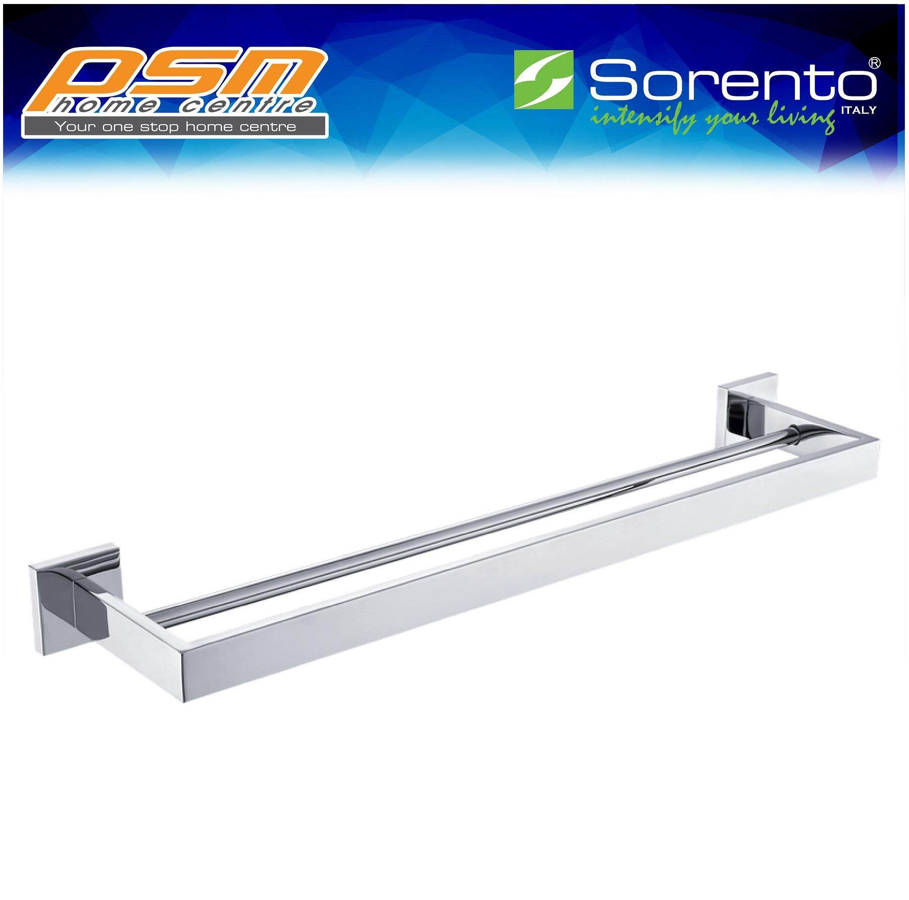 SORENTO Stainless Steel 304 Wall-Mounted Bathroom Double Layer Towel Bar SRT6013