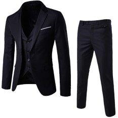 Bộ Đồ Nam Trang Trọng, Bộ 2 Chiếc Áo Khoác Blazer Dáng Ôm + Quần Váy Cưới Phù Rể Kết Hôn
