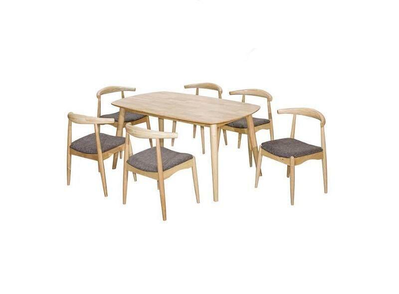 MIAMI DINING SET 1 + 6 / DINNER SET / MEJA MAKAN / BREAKFAST SET / TEA SET L1500MM X W900MM X H730MM