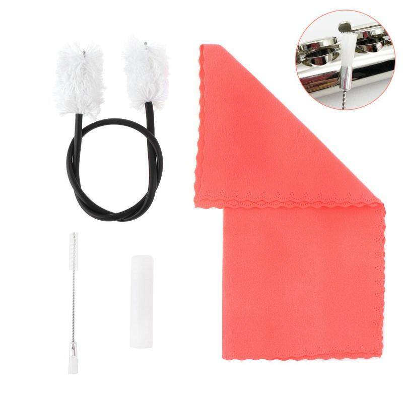4pcs/set Flute Clarinet Cleaning Tools Kit with Tube Inner Sound Hole Brush Cork Grease Cleaning Cloth Malaysia