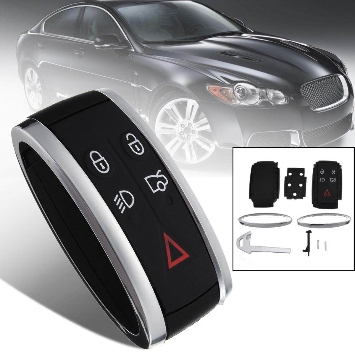 【free Shipping + Flash Deal】5 Buttons Keyless Remote Key Fob Case Shell W/ Uncut Blade For Jaguar Xf Xk By Haldis.