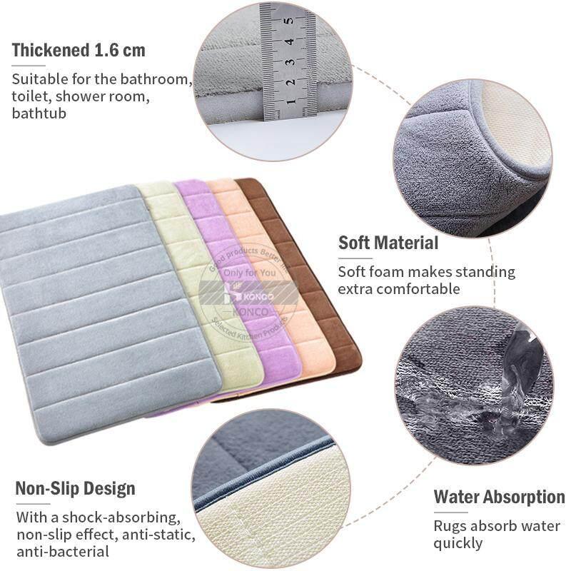 3 In 1 Bathroom Lavender Mat Non-Slip Floor Carpet Comfortable Toilet Rug