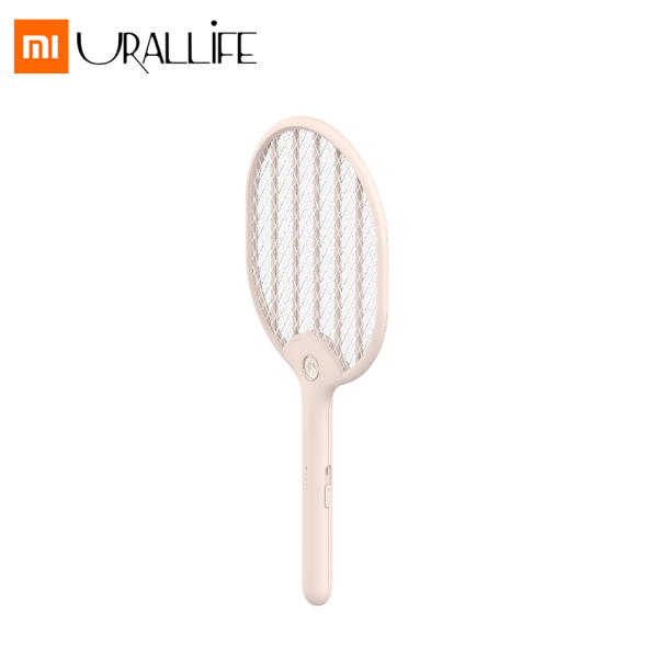 Xiaomi Mijia Urallife Electric Mosquito Three-layer Racket USB Rechargeable LED Double Safety Switch Mosquito Killer Handheld Fly Killer Swatter Indoor Home Garden Product