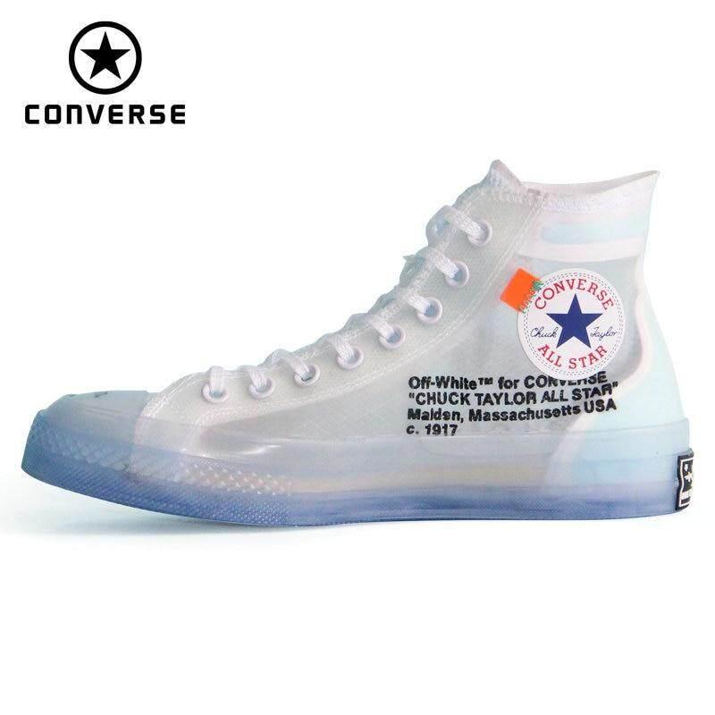 ยี่ห้อไหนดี  ราชบุรี 1970s Original Converse_OFF WHITE lucency all star Vintage shoes men and women unisex sneakers Skateboarding Shoes 162204C