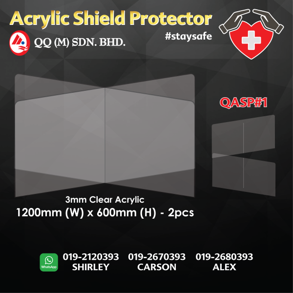 Acrylic Sneeze Guard Shield for Restaurant Grocery Stores Salons Retailers