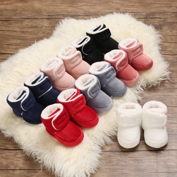 Loveingbaby Miễn Phí Vận Chuyển Bốt Giữ Ấm Bằng Cotton Cho Bé Trai Bé Gái Sơ Sinh Giày Đi Bộ Frist Giày Thể Thao Đế Mềm giá rẻ