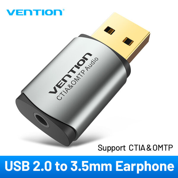 Giá Vention Sound Card USB To Jack 3.5mm 2 in 1 Adapter USB audio interface external sound card  Headset Headphone USB Soundcard For PC PS4