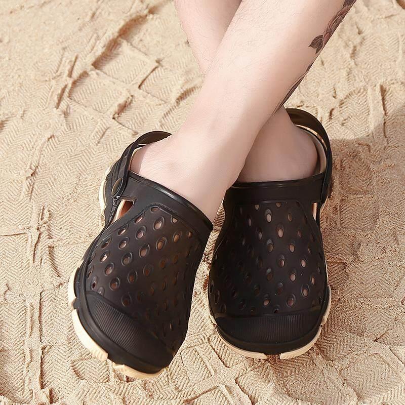 Musim Semi dan Musim Panas Korea Pria dan Wanita Crocs dan Sandal Fashion Sepatu Pantai Luar
