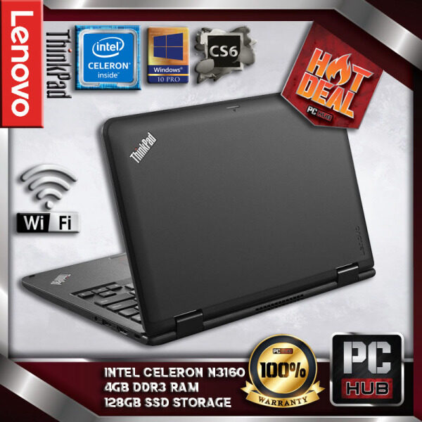 LENOVO THINKPAD11e SLIM LAPTOP - INTEL QUAD CORE / 4GB DDR3 RAM / 128GB SSD STORAGE / 12 INCH /W10PRO(PC HUB) Malaysia