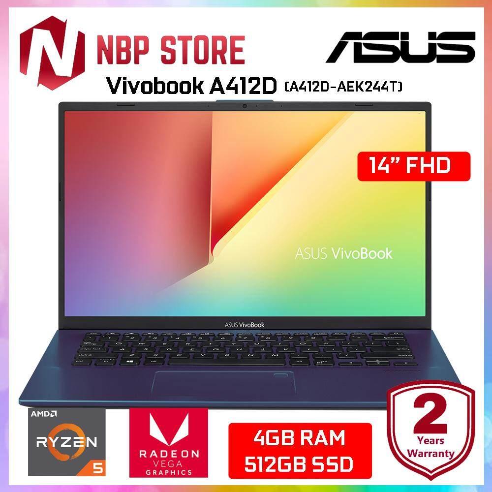 Asus Vivobook A412D-AEK244T 14 FHD Laptop Peacock Blue ( R5-3500U, 4GB, 512GB, ATI, W10 ) Malaysia
