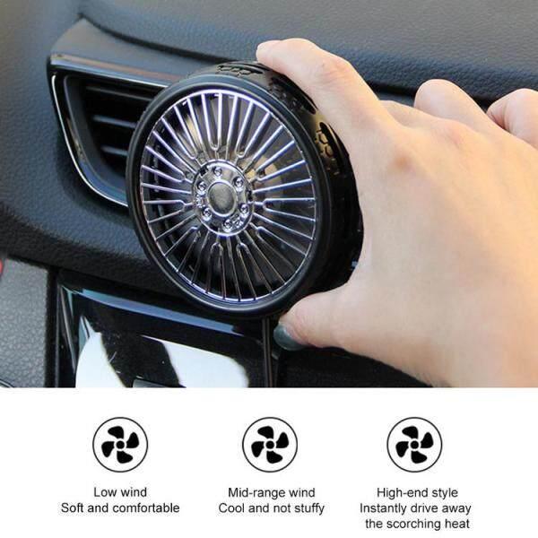 Quạt Thông Gió Gắn Trên Quạt USB Mini Mới Nhất Quạt Gió Xe Hơi Cho Cửa Gió Xe Hơi Xe Hơi Tự Động Quạt Làm Mát Không Khí Mạnh Mẽ Cho Xe Ô Tô SUV Sedan