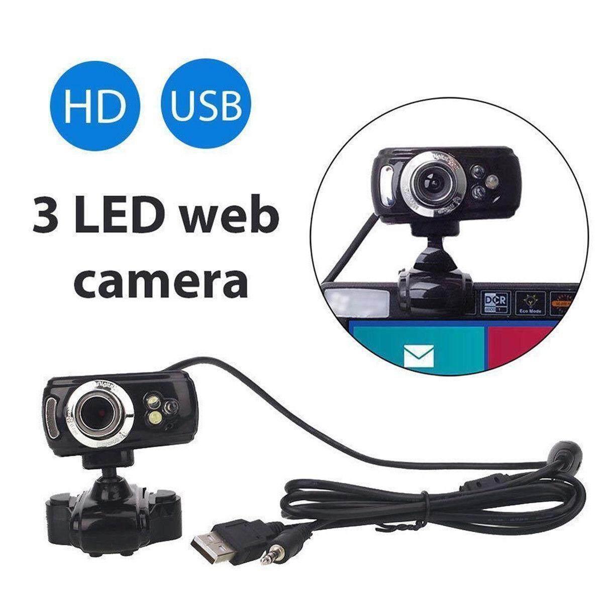 USB HD Webcam Web Camera with MIC for Computer PC Laptop Desktop