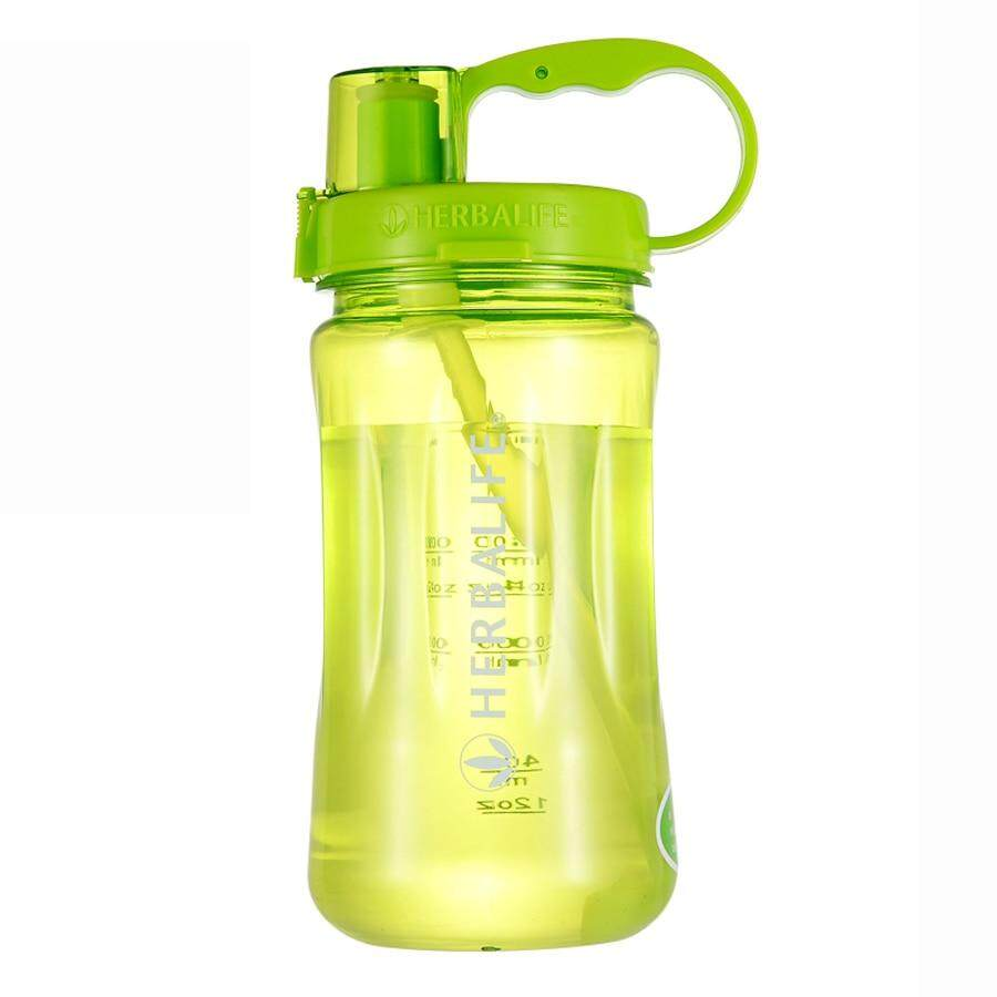 Large 2000ml//64oz Sports Herbalife Water Bottle Straw Cup Cycling Camping Drink