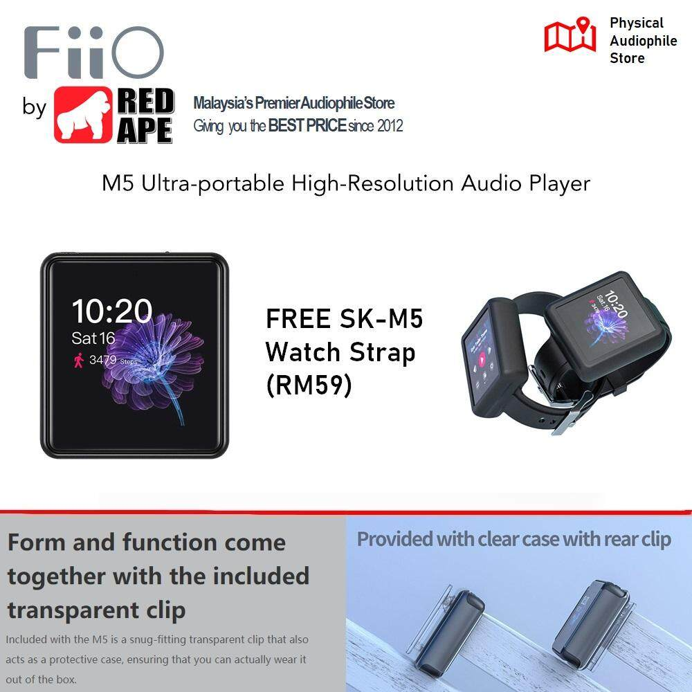 FiiO M5 High Resolution Touch Screen Bluetooth Music Player Clock function  MicroSD Call Support USB DAC